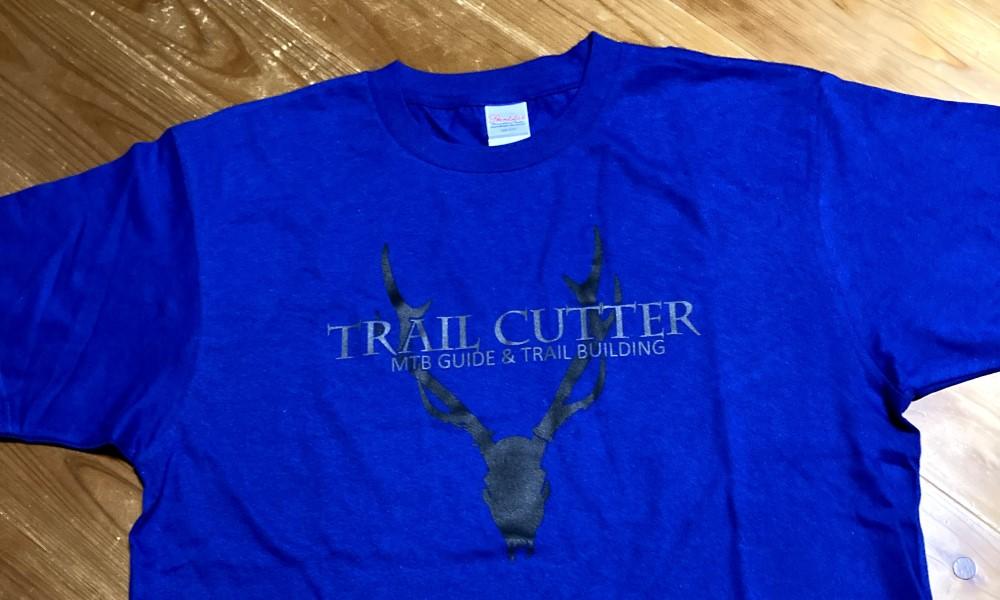 TRAIL CUTTER Tシャツ 青